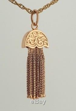 Fabulous Pristine Victorian / Edwardian 9ct Rose Gold Pendant / Bracelet Tassel