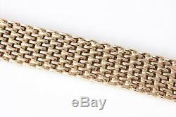 Fabulous Vintage Very Heavy 9ct Gold Mesh Link Design Bracelet Full Hallmark 78g