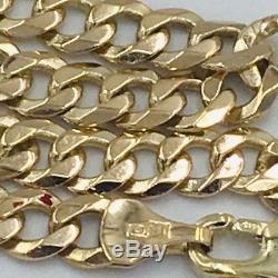 Fantastic 9ct Gold Curb Link Bracelet #330