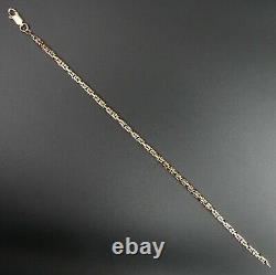 Fine 9 Ct Gold Byzantine Link 8 Bracelet 5.7 Grams