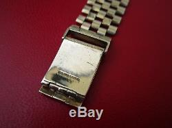 Fine c1971 Solid 9ct Gold OMEGA Gents Bracelet Wrist Watch With Papers