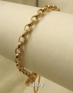 GENUINE SOLID 9K 9ct Yellow Gold OVAL BELCHER Padlock Bracelet