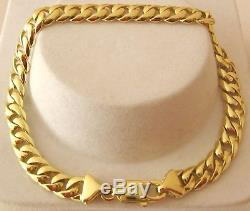 GENUINE SOLID 9ct YELLOW Gold UNISEX CURB BRACELET PARROT CLASP 19.5, 21.5 cm