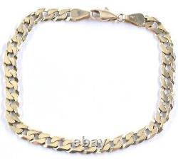 GOLD Hallmarked Mens 9ct Bracelet Jewellery Xmas Gift