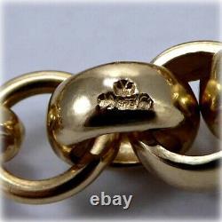 Gents 9ct Gold Belcher Link 8.5 Bracelet