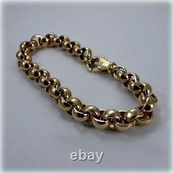 Gents 9ct Gold Belcher Link 9 Bracelet