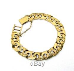Gents/mens, 9ct/9carat yellow gold cast heavy curb link bracelet