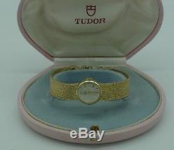 Genuine Rolex Tudor Royal vintage ladies 9ct gold bracelet watch 1970s