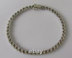 Gold Diamond Bracelet 9ct White Gold Multi (0.25ct) Diamond Link Bracelet