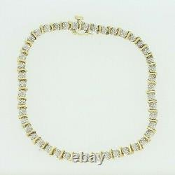 Gold Diamond Bracelet 9ct Yellow & White Gold Diamond Bracelet