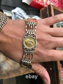 Gold Full Sovereign 3 Coin Bracelet 41.2 Grams