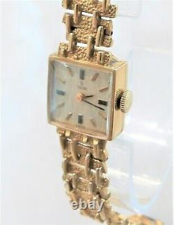 Gold Rolex Tudor ladies watch 1970's 9Ct solid gold case and bracelet