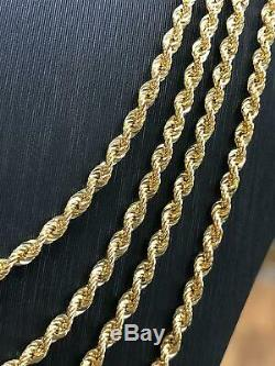 Gold Rope Chain Bracelet 375 9ct Mens Ladies Necklace Hallmarked 3mm NEW