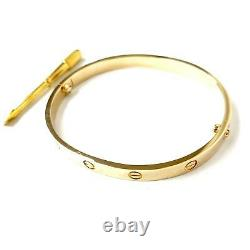 Gold Screw Bangle 28.5g 9ct Yellow Gold With Screwdriver 6.2mm Fully hallmarked