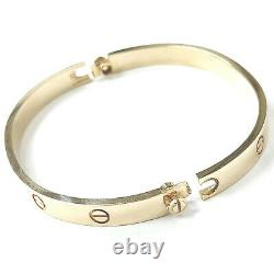 Gold Screw Bangle 9ct Yellow Gold With Screwdriver 6.2mm Fully hallmarked 28.7g