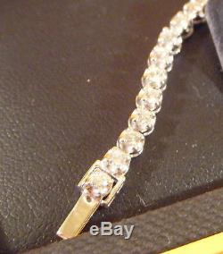 Goldsmiths 9ct Gold 2.0ct tw Diamond Tennis Bracelet