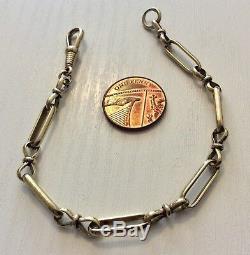 Good Vintage Solid 9 Carat Gold Bracelet 9CT Nice Link with Bell Clip