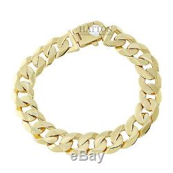 Hallmarked 9ct Gold Extra-Heavy Curb Bracelet 49.5 G 9 RRP £1990 (C176)