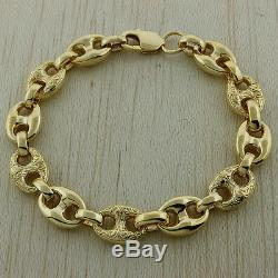 Hallmarked 9ct Gold Ornate Heavy Gucci Bracelet 39.7G 8 RRP £1590 C234