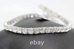 Hand- crafted 3.45Ct 100% Natural Round Diamond Tennis Bracelet, White Gold