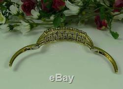 Heavy 22.7 Gram 9ct Gold Amethyst Garnet Bangle