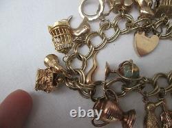 Heavy 9ct Gold Charm Bracelet