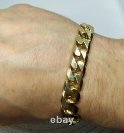 Heavy 9ct Gold Curb Bracelet Well Hallmarked and tested, 2oz 62g MASSIVE Cleaned
