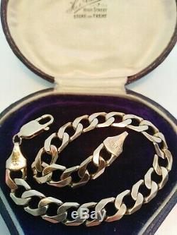 Heavy 9ct Gold Curb Chain Bracelet