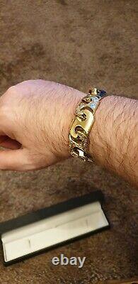 Heavy 9ct Gold Mariner Curb Link Bracelet