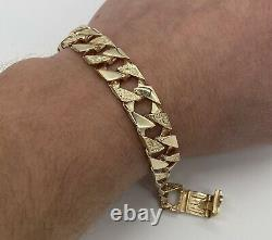 Heavy 9ct Yellow Gold Old School Mens Curb/Chaps Bracelet. Brand New