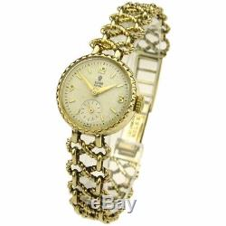 Heavy 9ct gold ladies Rolex Tudor watch with 9ct gold bracelet great condition