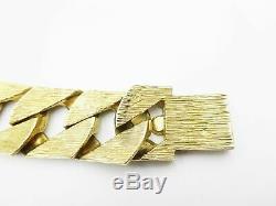 Heavy Curb Mens Bracelet 9ct 7.7Oz 240g 27mm Diamond
