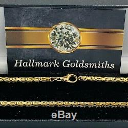 Heavy Solid 9ct Yellow Gold Fancy Link Chain Necklace 19 3/4 29g #787