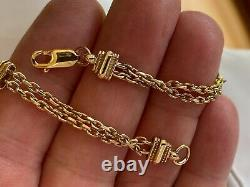L@@k Beautiful Chunky Heavy Solid 9ct Gold Bracelet Victorian Albertina Style