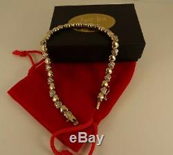 LadiesGirls 9ct Gold 1.8ct DIAMOND TENNIS HEART Bracelet 7.25 18.5cm 10.6gr 38c