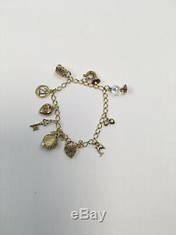 Ladies 9ct Gold Charm Bracelet