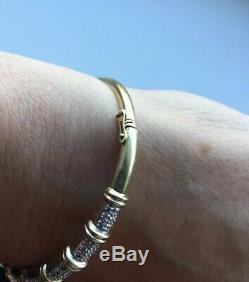 Ladies 9ct Gold Diamond Bracelet Bangle