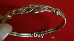 Ladies 9ct Gold Hallmarked Bangle Bracelet S/M Celtic Design