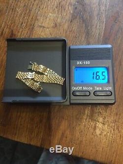 Ladies 9ct Gold Rolex Style Bracelet