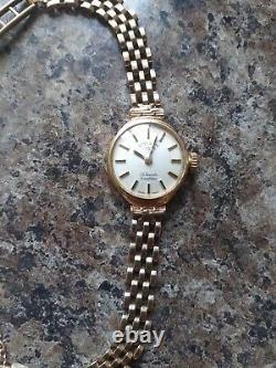 Ladies 9ct Gold Rotary Bracelet Watch