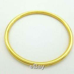 Ladies Bangle 9ct (375, 9K) Yellow Gold Round Golf Bangle