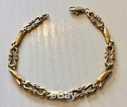 Ladies Beautiful Very Fancy Link Hallmarked Vintage 9CT Gold Bracelet 9 Carat