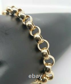 Ladies Belcher Bracelet 9ct Yellow Gold Links Euro Clasp Preloved RRP $1900
