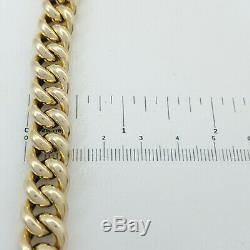 Ladies Bracelet 9ct (375, 9K) 35.81grms Yellow Gold Curb Bracelet with Bolt Lock