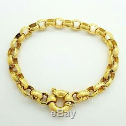 Ladies Bracelet 9ct (375, 9K) Yellow Gold Belcher Chain Bracelet
