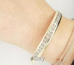 Ladies Diamond Bangle 2.00ct TDW 9ct White Gold Preloved VAL $4900