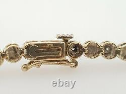 Ladies Diamond Bracelet 9ct yellow gold 0.15ct tdw Preloved RRP$1590
