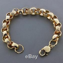 Ladies NEW Large 9ct Gold Heavy Belcher Bracelet 31.3G 8.5 RRP £1260 C169