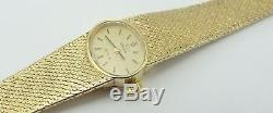 Ladies Omega De Ville 9ct gold integral bracelet wrist watch. In Working Order