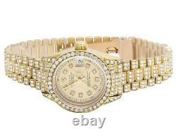 Ladies Rolex 18K Yellow Gold 26MM Datejust Presidential 69178 Diamond Watch 9 Ct